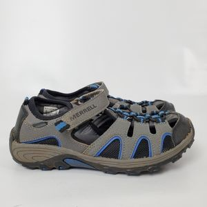 MERRELL Girls Hiking Leather Select Grip Sandals